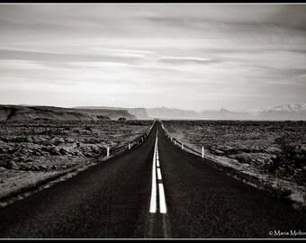 Iceland Road Black & White Photographic Fine Art Print