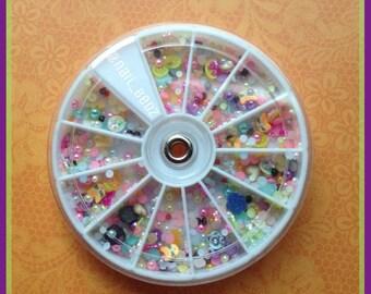 Sale 2 Dollars Off 3D assorted /Mixed nail art stud wheel