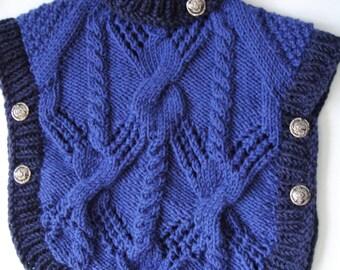 Poncho, knitted baby poncho, wool poncho, knit poncho, Poncho Turtlenecks, Handmade, girls, boys poncho