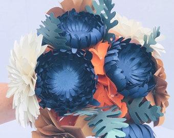 Paper flowers bouquet wedding