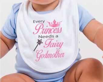 Fairy Godmother Baby Bib