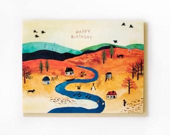 River Village Birthday Card