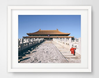 Photography Prints, Photography, Printable Art, Wall Art, Art Prints, Wall Decor, China, Forbidden City, Oriental Photography, King