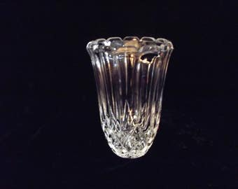 Lead crystal vase, item # 20