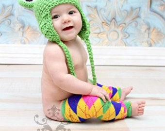 0 to 3 Month, Frog Hat, Baby Frog Hat, Crochet Baby Hat, Photography Prop