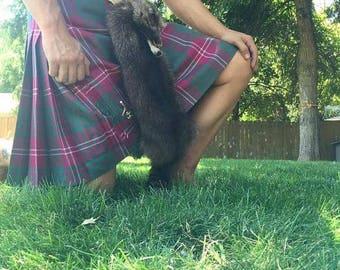 Mask sporran raccoon traditional scottish kilt accessory