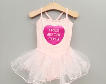 Pink Tutu Leotard, Fries Before Guys, V Day Gift, Gifts Under 25, Dance Leotard, Conversation Heart, Valentine's Day