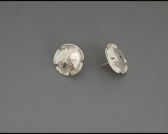 Sand Dollar Earrings -sterling silver-