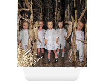 Haunted Cornfield Creepy Dolls Best Selling Halloween Shower Drape Room Divider New Home Gift Unique Shower Haunted Image Creepy Doll