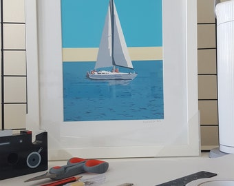 Framed print of 'Sailing' by Maxine Walter