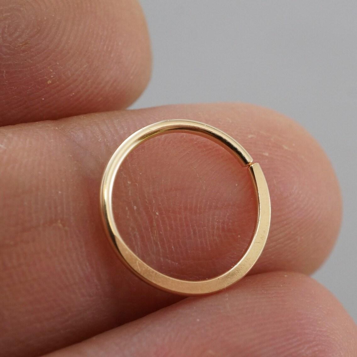 SEPTUM RING - Cartilage hoop. 18g - piercing ring - endless hoop ...