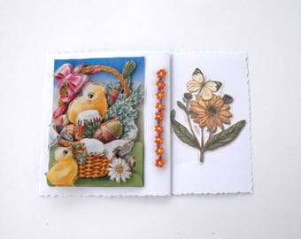 14 - 3d chicks for Easter greeting card