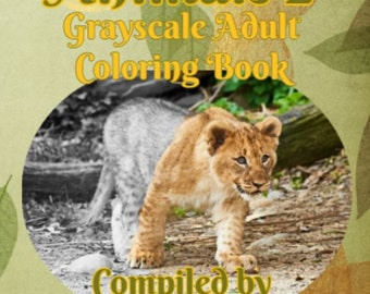PDF of Animals 2 Grayscale Adult Coloring Book by Renee Davenport