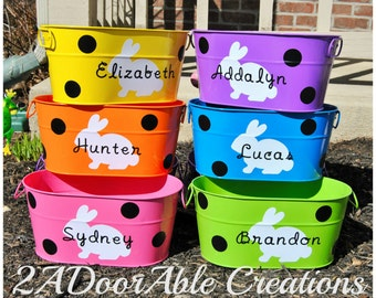 Easter Buckets - Personalized Easter Buckets