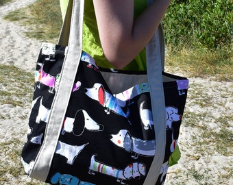 Large Dachshund Beach Bag Tote Bag