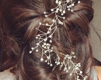 Crystal Hair vine. Wedding hair vine. Bridal hair vine. Hair vine. Swarovski crystal hairvine. Wedding hair accessories. Bridal Hairvine.