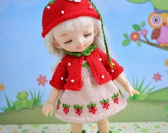 Pre-order Pukifee Lati Yellow strawberry outfit