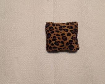 Animal print catnip pillow - HANDSEWN