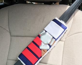THE ORIGINAL - Star Wars Han Solo Inspired Handmade Custom Seat Belt Cover | Han Solo Corellian Bloodstripe Seat Belt Pad
