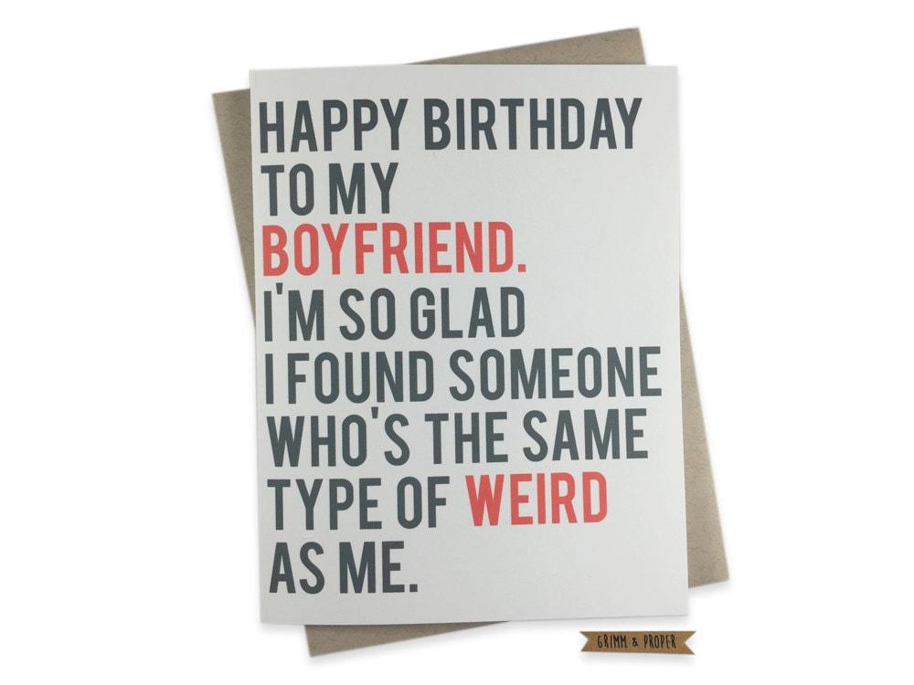 Funny Boyfriend Birthday Card Boyfriend's Birthday