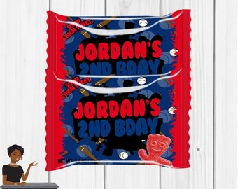 Baseball Party, Sour Patch Kids, Baseball, Softball, Sports, Digital or Printed and Shipped