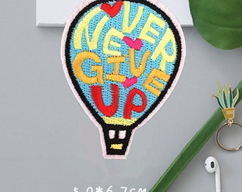 BUY 3 GET 1 FREE  Hot Air Balloon Patches  Iron on Patches or Sewing on Patch  Balloon Embellishment  Embroidered Patch P2507