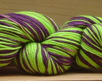 Self-Striping Sock (4Ply), hand-dyed yarn, 100g - Which Witch