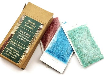 Crushed Stone Inlay 3-Pack: Blue Turquoise, Green Turquoise, and Red Coral (Lab Created)