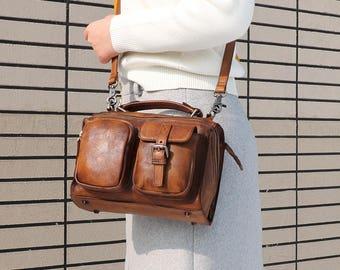 New Leather Messenger bag, Messenger bag woman, Crossbody Leather bag, Leather Backpack, Leather satchel, Leather bag, Leather shoulder bags