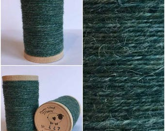Rustic Moire Wool Thread #447 for Embroidery, Wool Applique and Punch Needle Embroidery