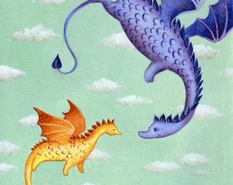 Dragons, First Flight ORIGINAL ILLUSTRATION