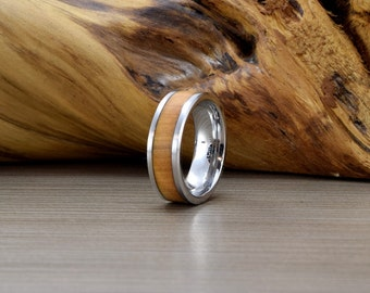 Cobalt and Olive Wedding Ring -SE- Mans Wedding Band -Women's Wedding Ring - Unique Wedding Band