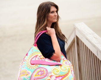 Paisley Beach Bag, Paisley Beach Bag, Monogram Beach Bag, Monogram Beach Tote, Personalized Beach Tote, Personalized Beach Bag