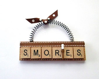 Smores  Scrabble Tile Ornament