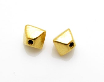 2 Pcs, 24K Gold Vermeil Bead