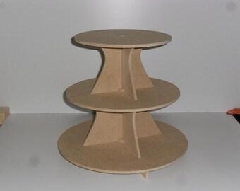 3 Tier Cake / Cupcake Stand  MDF 5.0