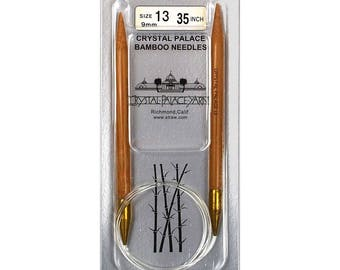 Crystal Palace Bamboo Circular Knitting Needles - size 13 (9mm) 26""