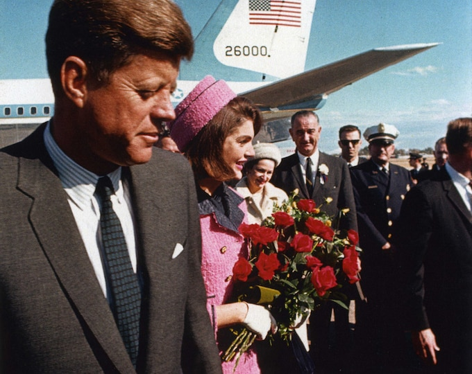 President John F. Kennedy Arrives at Love Field on November 22, 1963 - 5X7 or 8X10 Photo (AA-259)
