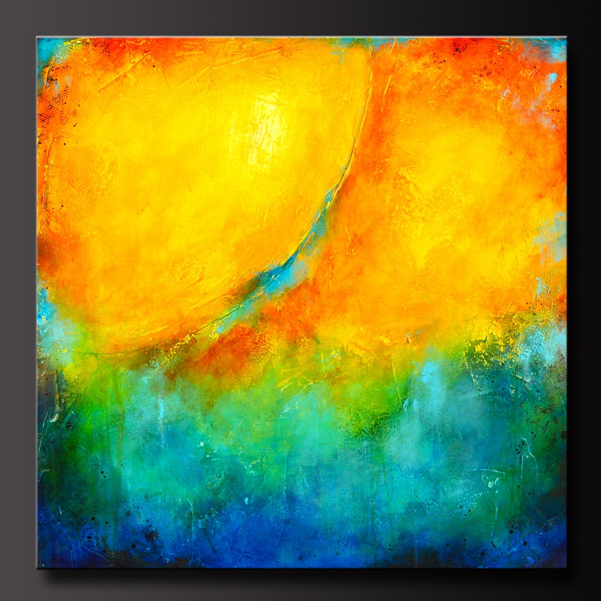 Color Splash 30 x 30 Abstract Acrylic Painting Huge