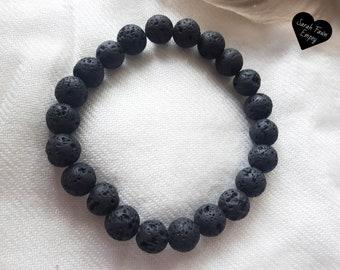 Black Lava Rock Bracelet   Grounding Bracelet   Chakra Bracelets   New Age Bracelets   Witchcraft   Hippie Bracelets  
