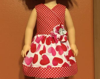 """Valentine's dress for the 14.5"""" doll"""