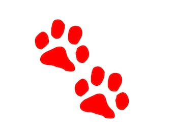 """puppy / dog paw prints 3.5"""" wide  vinyl decal / sticker cute and adorable for anamal lovers"""