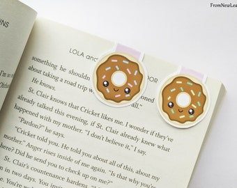 Cute Donuts Magnetic Bookmarks
