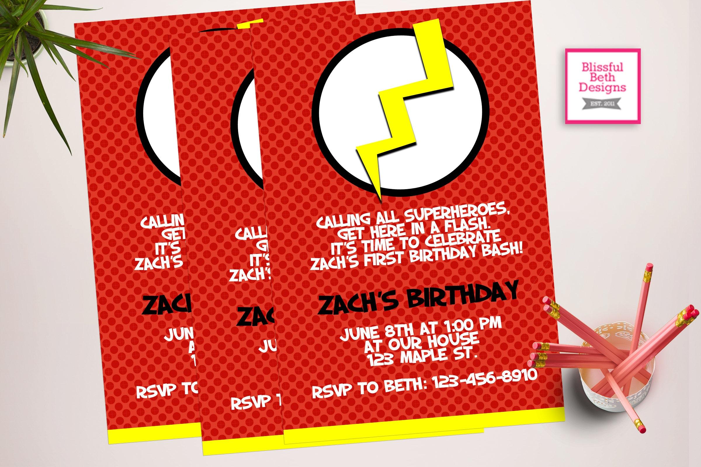 printable superhero birthday invitations