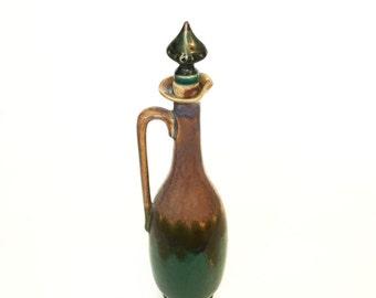 Vintage French Ceramic Decanter