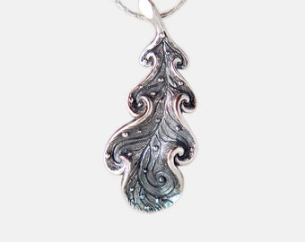 Oak Leaf Pendant, Nature Inspired Jewelry, Handmade