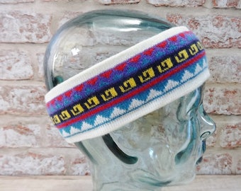 Ski Winter Headband 80s Retro Vintage Approx.47cm x 6cm