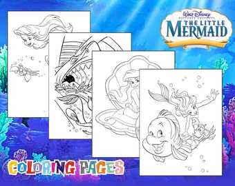 ARIEL coloring pages - Little Mermaid coloring book