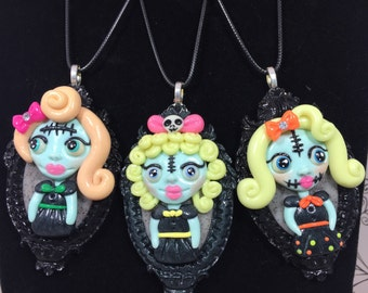 Blonde Spooky Girls Necklaces