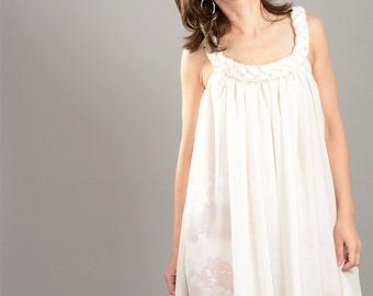 White Summer Dress, Plus Size Dress, Summer Tunic Dress, See Through Dress, Summer Loose Dress, Elegant Women Dress, Short Summer Dress